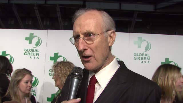 james cromwell on the event and organization at the global green usa's 6th annual preoscar party benefiting green schools at los angeles ca - pre party stock videos and b-roll footage