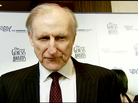 James Cromwell on the good of the event importance of awareness and working with a pig in 'Babe' at the 2008 Genesis Awards at the Beverly Hilton in...