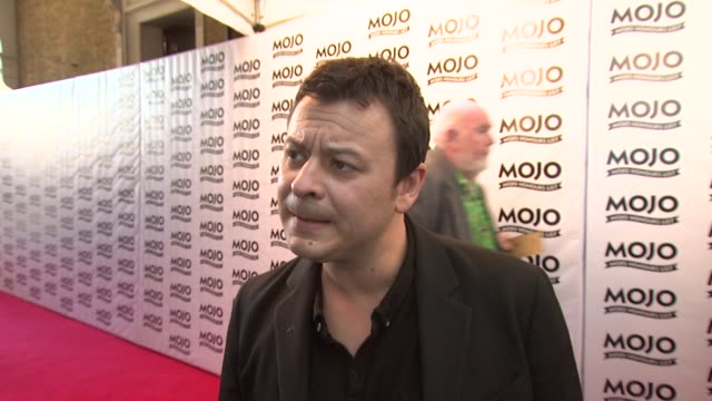 james dean bradfield on how sometimes they've had more off nights than any band at the the mojo honours list 2009 at london england. - manic street preachers stock videos & royalty-free footage