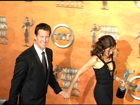 James Denton and Teri Hatcher winners for Outstanding Ensemble in a Comedy Series for 'Desperate Housewives' at the 2005 Screen Actors Guild SAG...