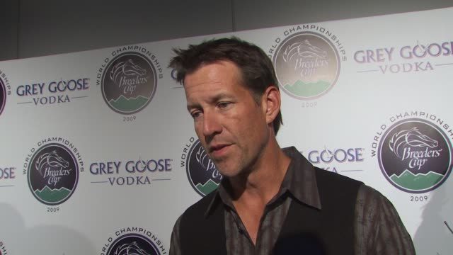 james denton on performing with the band from tv if he's a fan of horse racing what he's most looking forward to at the breeder's cup how he feels... - grey goose vodka stock videos & royalty-free footage