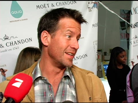 james denton on teri writing the book at work and on the set, what the book is about and what the title means, what teri is like on the set, what's... - teri hatcher stock videos & royalty-free footage