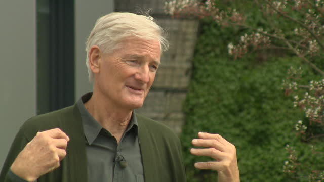 """james dyson saying brexit has given the uk """"an independence of spirit"""", using the astrazeneca coronavirus vaccine as an example - """"bbc news"""" stock-videos und b-roll-filmmaterial"""