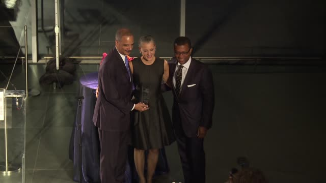 SPEECH James E Johnson President and CEO of the Center of Reproductive Rights presents award to Former Attorney General Honorable Eric H Holder Jr...