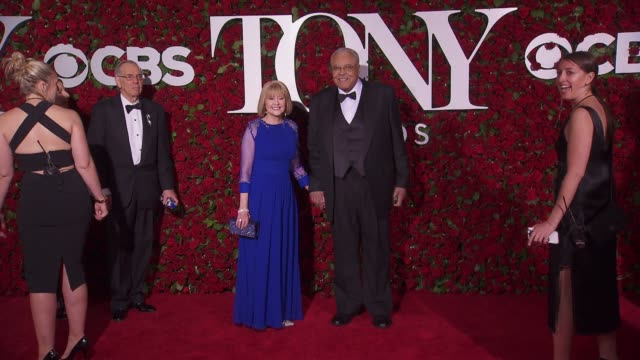 james earl jones and guest at 2016 tony awards red carpet at the beacon theatre on june 12 2016 in new york city - 70th annual tony awards stock videos and b-roll footage