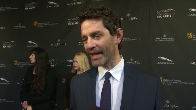 interview james frain on being a part of the afternoon at the bafta la 2014 awards season tea party at four seasons hotel los angeles at beverly... - season 11 stock videos and b-roll footage