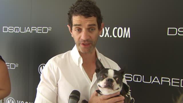 James Frain on being a part of the afternoon what he thinks of DSquared2's new canine couture line his dog how he named his dog his daily routine...