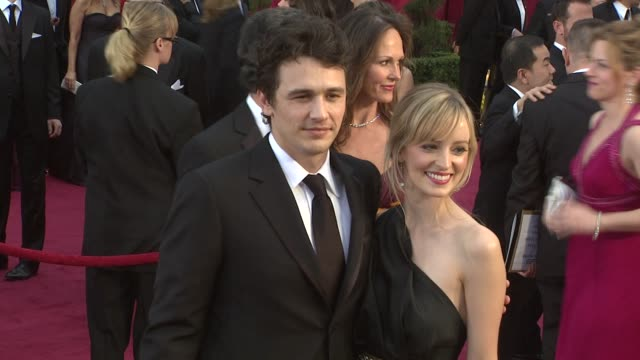 James Franco Ahna O'Neil at the 81st Academy Awards Arrivals Part 2 at Los Angeles CA