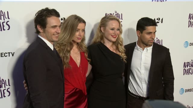 James Franco Amber Heard Pamela Romanowsky and Wilmer Valderrama at 'The Adderall Diaries' Los Angeles Premiere at ArcLight Hollywood on April 12...