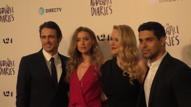 James Franco Amber Heard Pamela Romanowsky Wilmer Valderama at the A24/DIRECTV's The Adderall Diaires Premiere at ArcLight Theatre in Hollywood in...