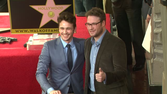 james franco and seth rogen at james franco honored with star on the hollywood walk of fame james franco and seth rogen at james franco honore at... - seth rogen stock videos and b-roll footage