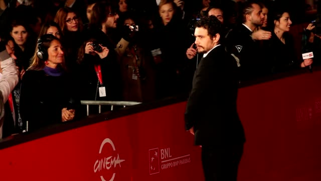 james franco at 'dream' and 'tar' premiere: 7th rome film festival at auditorium parco della musica on november 16, 2012 in rome, italy - rome film festival stock videos & royalty-free footage