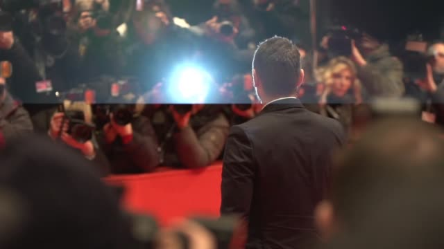 SLOMO James Franco at 'Queen of the Desert' Red Carpet 65th Berlin Film Festival at Berlinale Palast on February 06 2015 in Berlin Germany