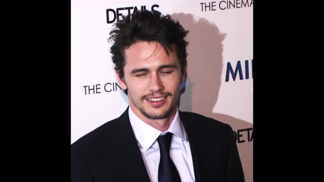 vídeos y material grabado en eventos de stock de gif james franco at the 'milk' premiere - formato de archivo gif
