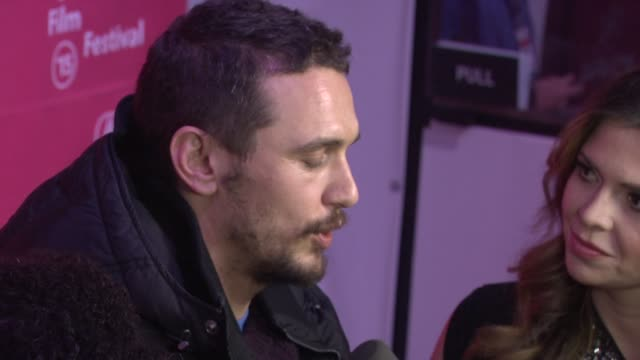 """james franco at """"true story"""" premiere - sundance film festival 2015 at the marc theatre on january 23, 2015 in park city, utah. - park city stock videos & royalty-free footage"""