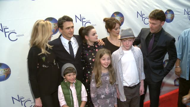 James Franco Joey King Ahna O'Reilly Scott Hayes Jacob Skirtech Brady Permenter and Stella Allen at The Sound And The Fury Los Angeles Premiere at...