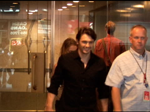 James Franco makes for a quick exit as he departs the 'Today Show' in New York 08/05/11