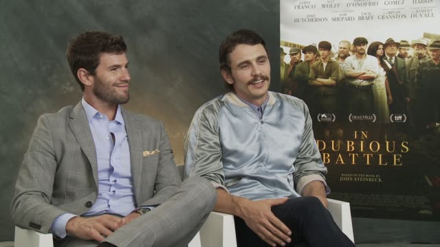 INTERVIEW James Franco on feeling confident working as a director at 'In Dubious Battle' Interview 73rd Venice Film Festival at Palazzo del Cinema on...