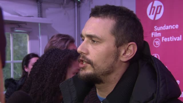 INTERVIEW James Franco on his new film at 'True Story' Premiere Sundance Film Festival 2015 at The Marc Theatre on January 23 2015 in Park City Utah