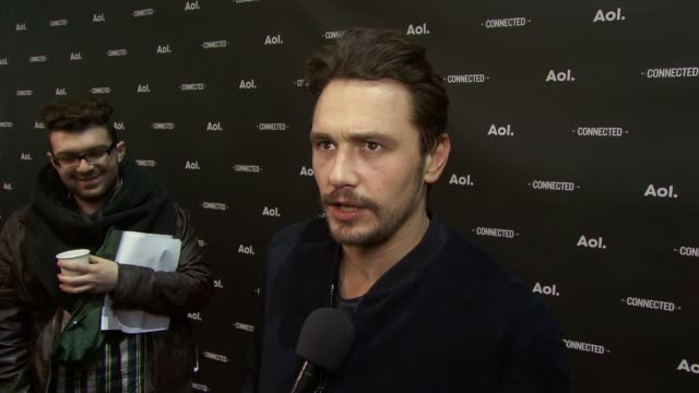 INTERVIEW James Franco on n the importance AOL has and that watching Sarah Jessica Parker's show influenced his decision to do this AOL Originals...