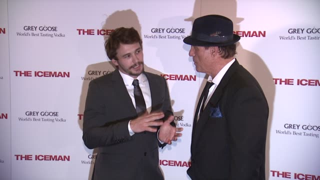 james franco robert davi at the iceman new york screening at chelsea clearview cinema on april 29 2013 in new york new york - robert davi stock videos and b-roll footage