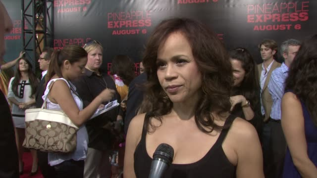 james franco, rosie perez, stars at the 'pineapple express' premiere at los angeles ca. - rosie perez stock videos & royalty-free footage