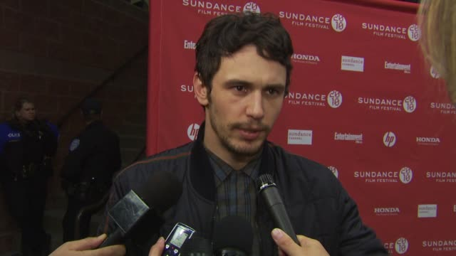 James Franco talks about the movie how the movie gives a better understanding of the palm at the 'Howl' Premiere Sundance Film Festival 2010 at Park...
