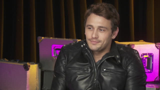 james franco talks about the positive energy coming from the crowd at the chime for change benefit concert to promote women's rights around the world. - human rights or social issues or immigration or employment and labor or protest or riot or lgbtqi rights or women's rights stock videos & royalty-free footage