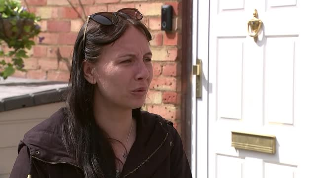 father of four stabbed closed to his home as trying to help man; england: essex: laindon: ext amy wiggins interview sot. - crime and murder stock videos & royalty-free footage