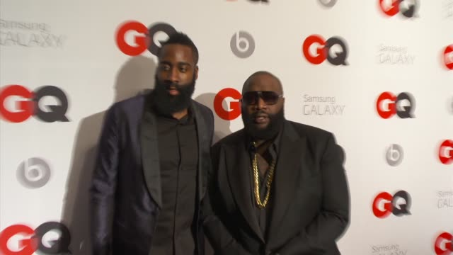 James Harden Rick Ross Chris Bosh at GQ And LeBron James Celebrate All Star Style And The March Issue With Special Performance By The Roots at Ogden...