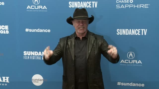 vídeos y material grabado en eventos de stock de james hetfield at sundance 2019 2019 getty entertainment park city utah - formato de archivo gif