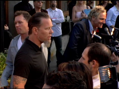 james hetfield of metallica and matt sorum of velvet revolver at the 2nd annual musicares map fund benefit concert at the henry fonda theater in... - メタリカ点の映像素材/bロール