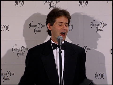 James Horner at the 1999 American Music Awards press room at the Shrine Auditorium in Los Angeles California on January 11 1999