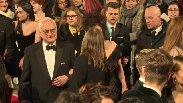 james ivory helena bonham carter at royal albert hall on february 18 2018 in london england - call me by your name stock videos & royalty-free footage