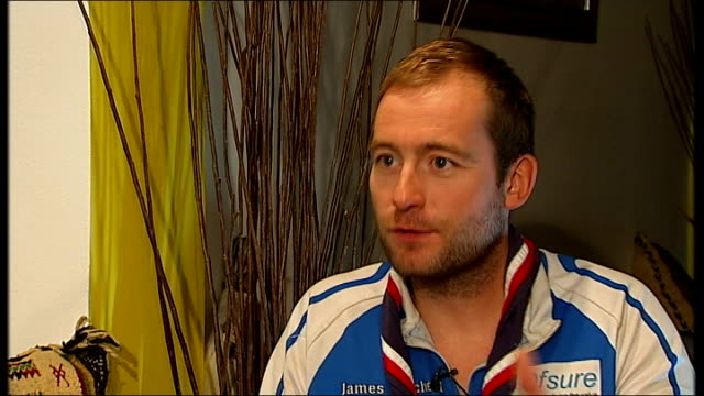 james ketchell completes triathlon of cycling, climbing and rowing around the world; james ketchell interview sot - itv london tonight weekend stock videos & royalty-free footage