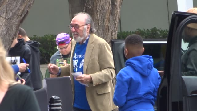 James L Brooks outside the Clippers vs Warriors Playoff Game at Staples Center in Los Angeles in Celebrity Sightings in Los Angeles