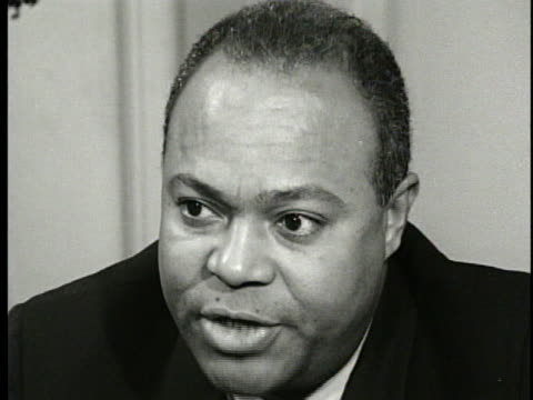 james l. farmer jr., national director of the congress of racial equality, says malcolm x's break with the nation of islam leaves unanswered... - united states and (politics or government) stock videos & royalty-free footage