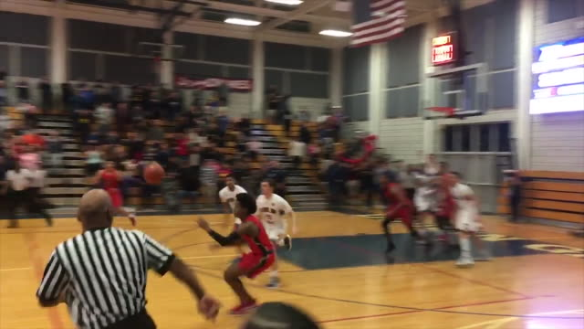 james logan senior tim oldham sinks a 30-foot off-balance heave at the buzzer for a stunning 86-83 victory at dublin in the north coast section... - semifinal round stock videos & royalty-free footage