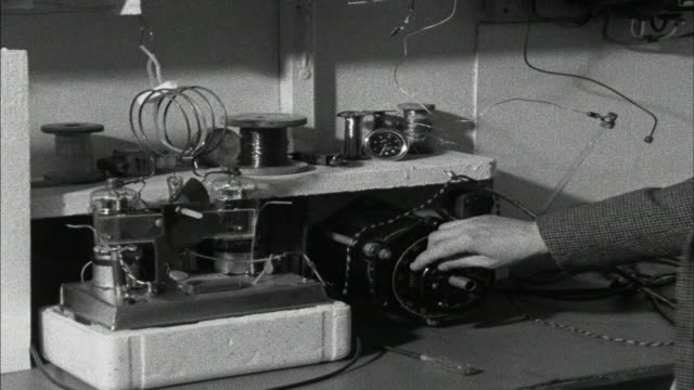james lovelock with his device to detect atmospheric pollutants on tomorrow's world 1967 - engineering stock videos & royalty-free footage
