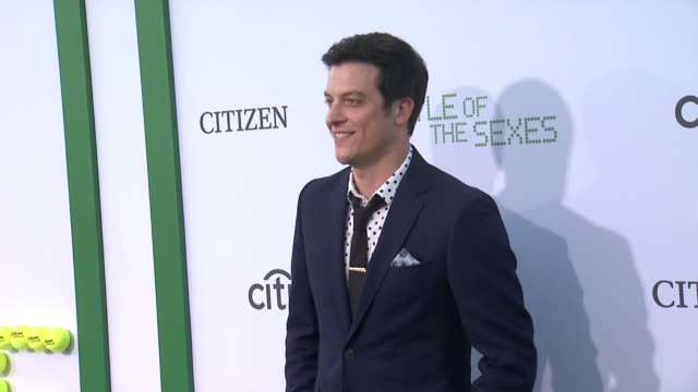 james mackay at battle of the sexes los angeles premiere presented by fox searchlight at regency village theatre on september 16 2017 in westwood... - regency village theater stock videos & royalty-free footage