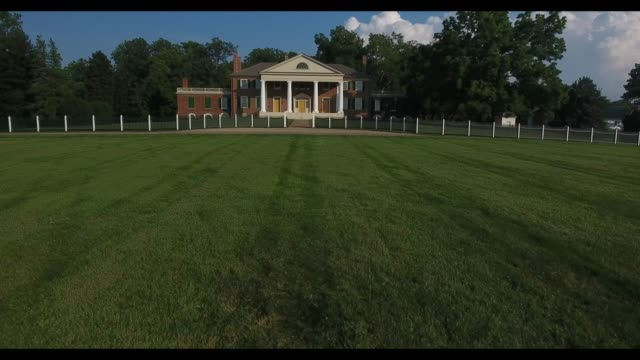 james madison's montpelier is a museum and permanent exhibit in orange virginia where the architect of the united states constitution lived and farm - thomas jefferson stock videos & royalty-free footage