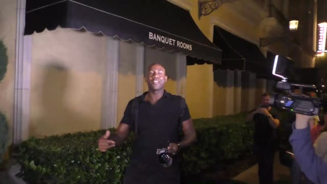 james markham hall jr. from american ghost towns talks about dancing with the stars at the grove in los angeles in celebrity sightings in los angeles, - celebrity sightings stock videos & royalty-free footage