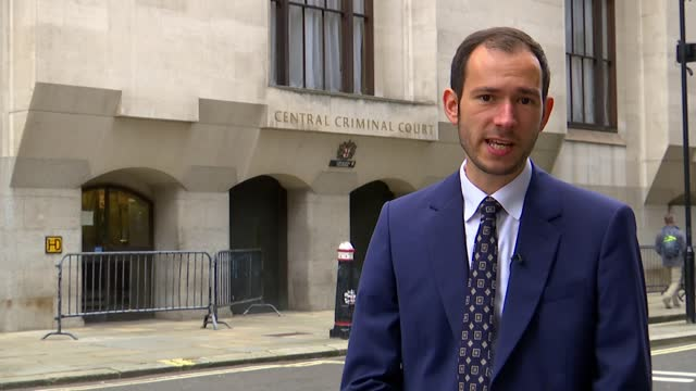 suspect appears in court; englan: london: central criminal court : reporter to camera - crime and murder stock videos & royalty-free footage