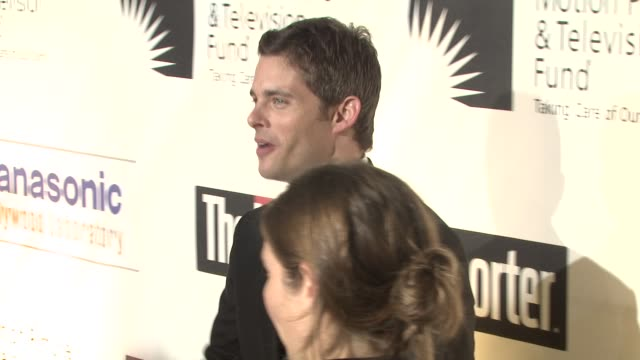 james marsden at the 'a fine romance' to benefit the motion picture television fund at los angeles ca - motion picture & television fund stock videos & royalty-free footage