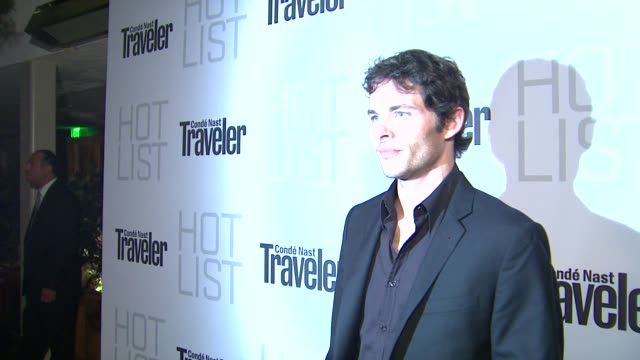 James Marsden at the Conde Nast Traveler Hot List Party at West Hollywood CA