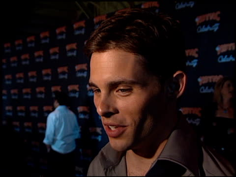 james marsden at the 'n sync celebrity album party at moomba in west hollywood california on july 23 2001 - n sync stock-videos und b-roll-filmmaterial