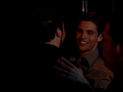james marsden at the 'n sync celebrity album party at moomba in west hollywood california on july 23 2001 - イン・シンク点の映像素材/bロール