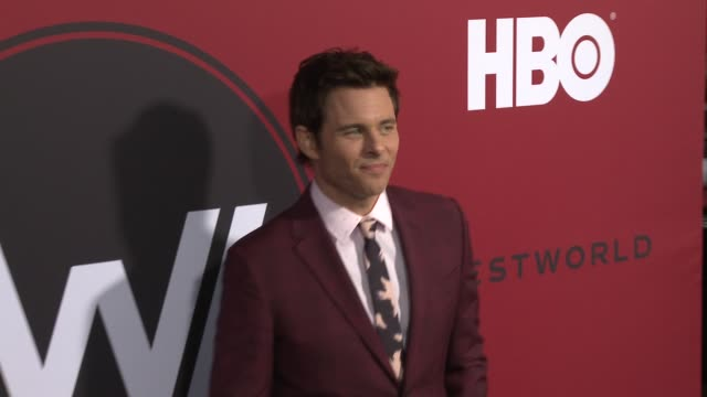 james marsden at the westworld season 2 premiere at arclight cinerama dome on april 16 2018 in hollywood california - cinerama dome hollywood stock videos & royalty-free footage