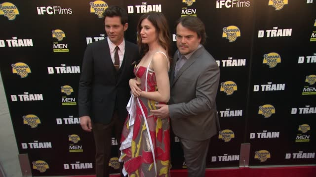 james marsden kathryn hahn and jack black at the d train los angeles premiere at arclight cinemas on april 27 2015 in hollywood california - arclight cinemas hollywood stock videos and b-roll footage