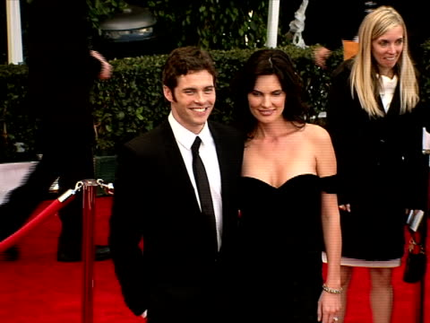 james marsden lisa linde at the 14th annual screen actors guild awards at los angeles ca - lisa linde stock videos & royalty-free footage